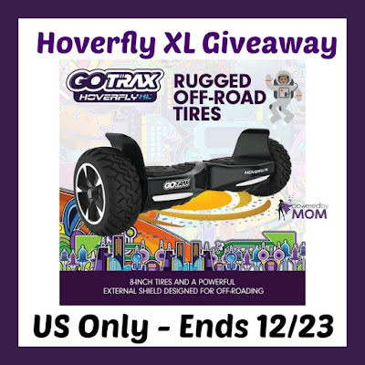 Enter the Hoverfly XL Giveaway. Ends 12/23