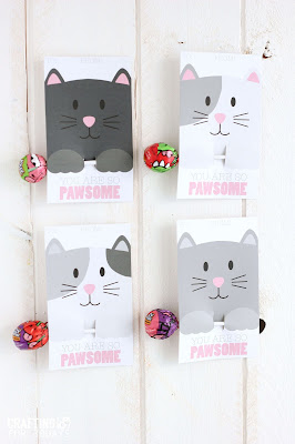 free printable cat party favors