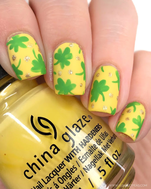 St Patricks Day Nail Art 25 Sweetpeas