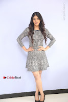 Actress Chandini Chowdary Pos in Short Dress at Howrah Bridge Movie Press Meet  0036.JPG