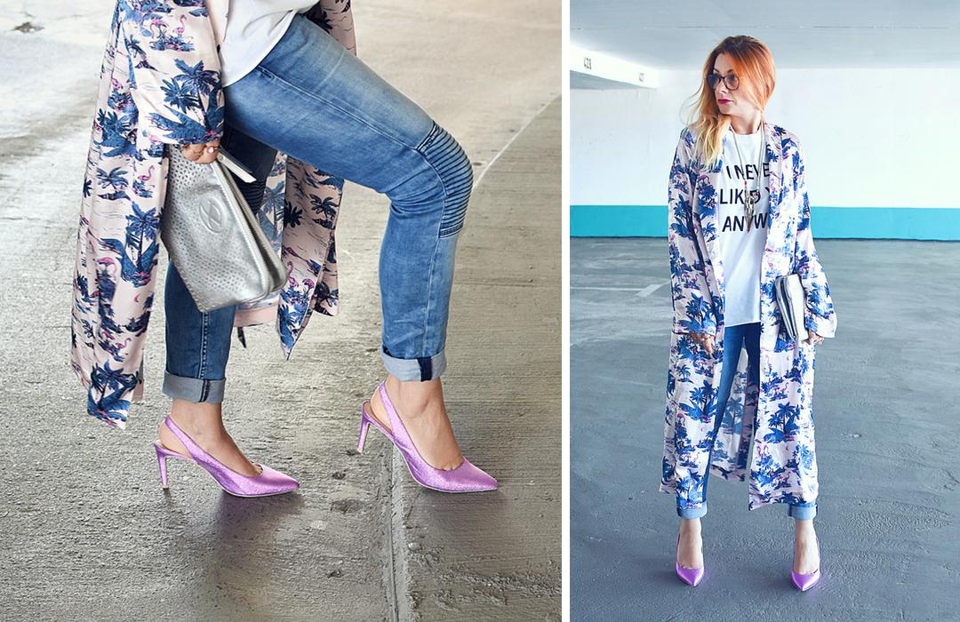 Kimono für Frauen, Damen Kimono, Outfit mit Kimono