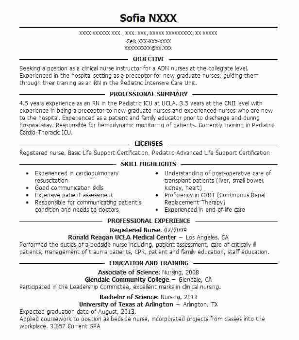 icu nurse resume examples 2019