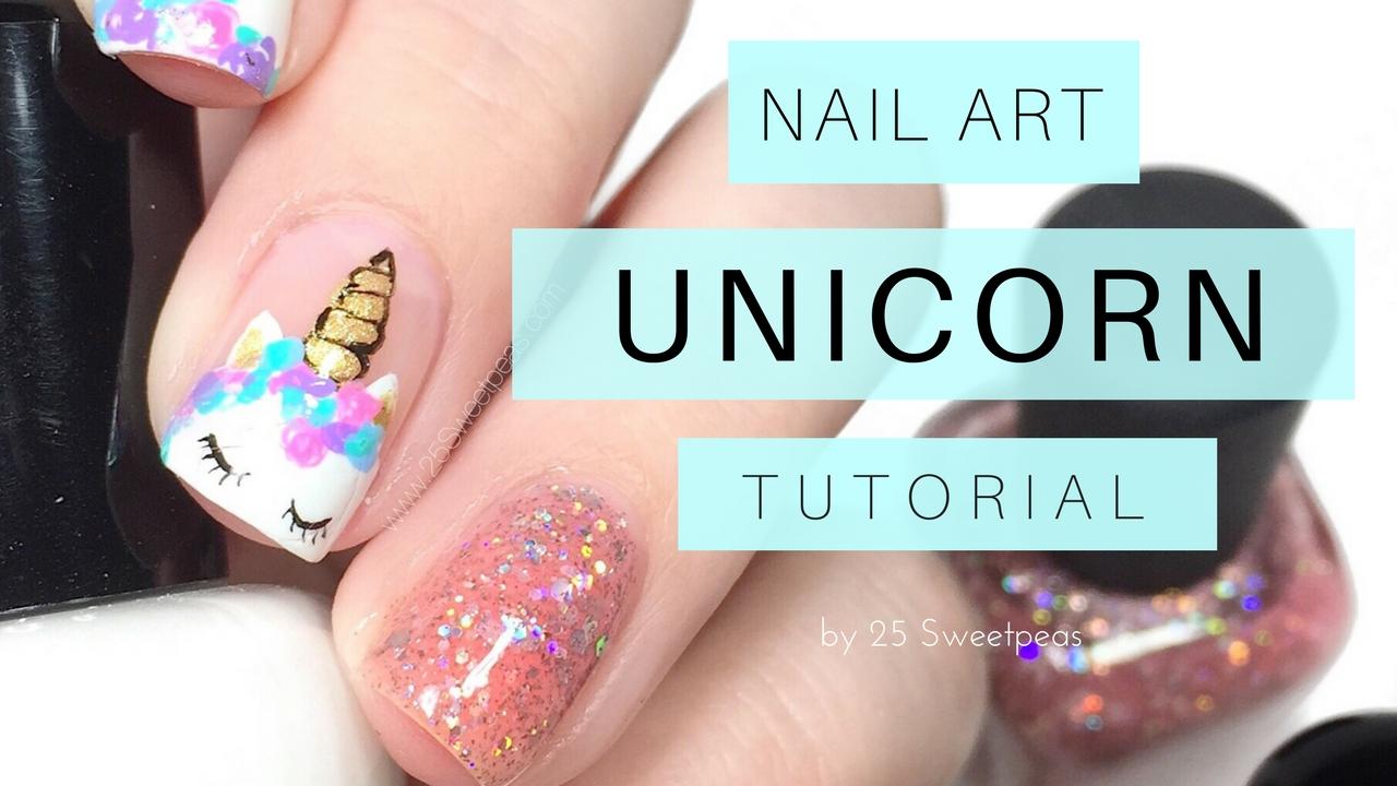 Unicorn Nail Art + Tutorial | Digital Dozen Mythical Creatures - 25 ...