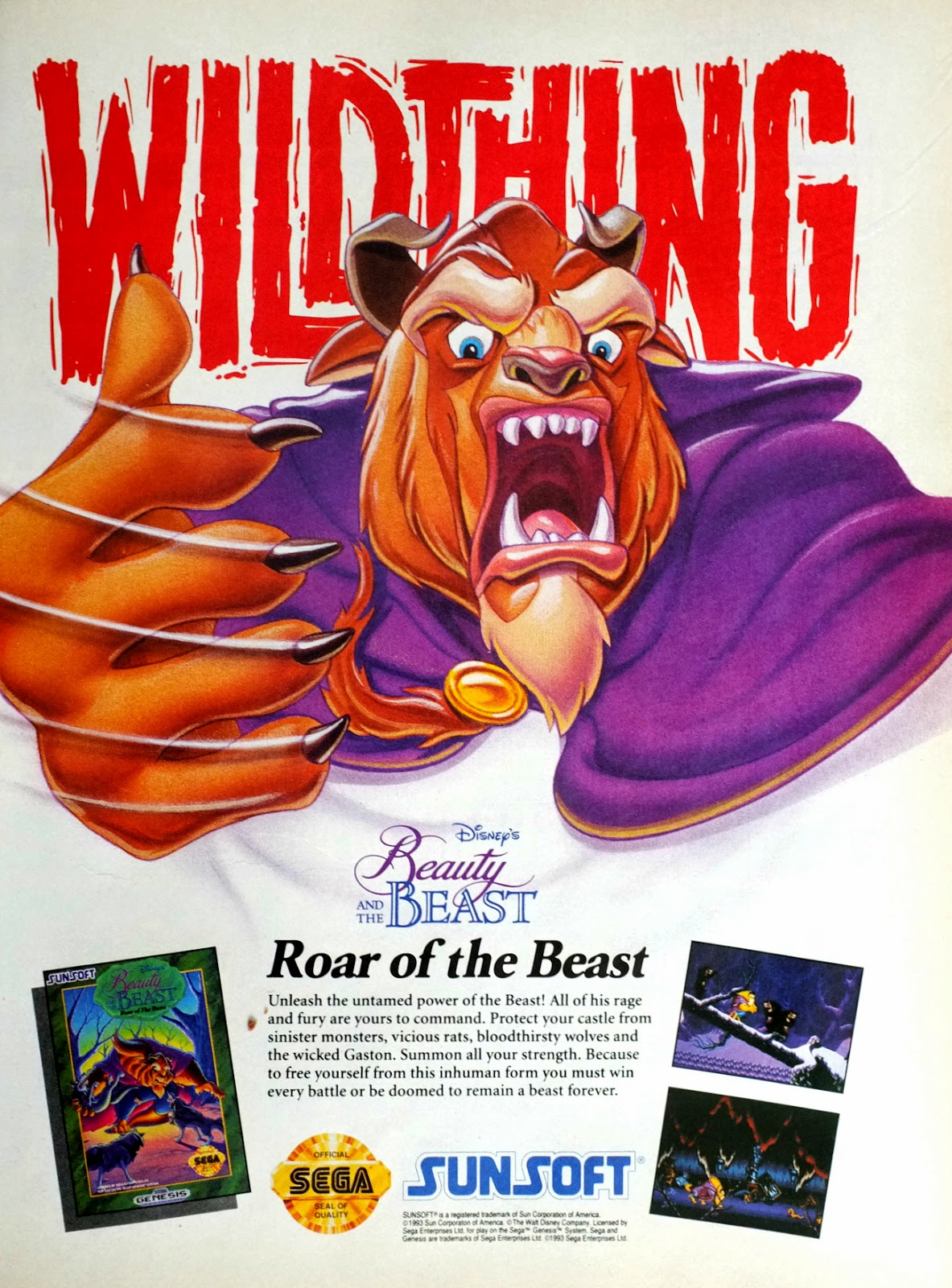 Beauty and the Beast. Roar of the Beast video game