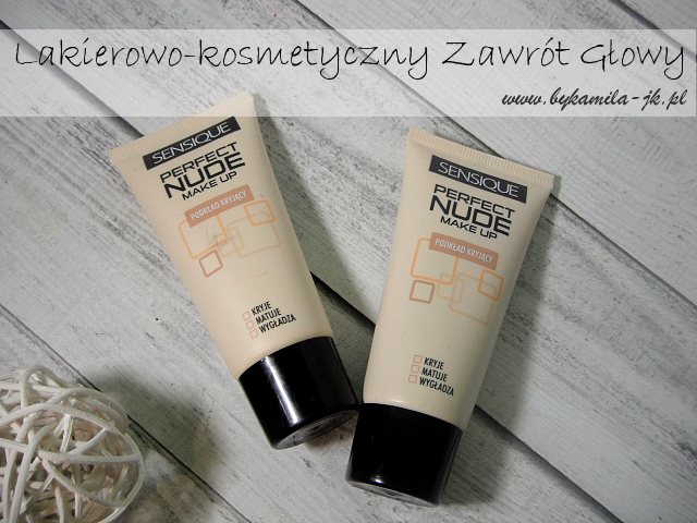 Sensique podkład Perfect Nude 402 Natural 404 Beige Natura