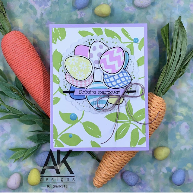 Sunny Studio Stamps: Eggs To Dye For Customer Card by Adam