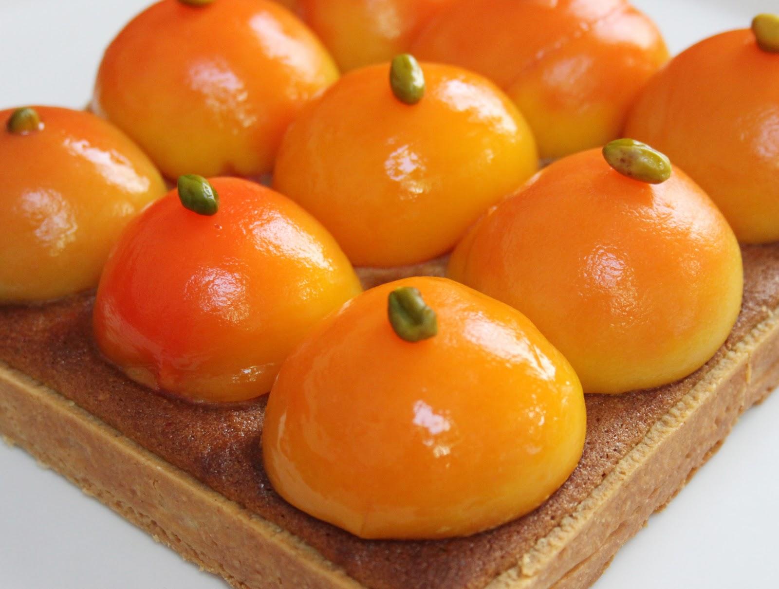 La cuisine de bernard tarte carr e p ches et pistaches - Peches au sirop sans sterilisation ...