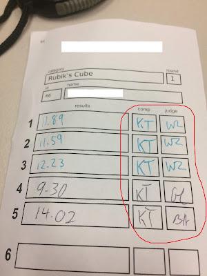 speedcubing score sheet