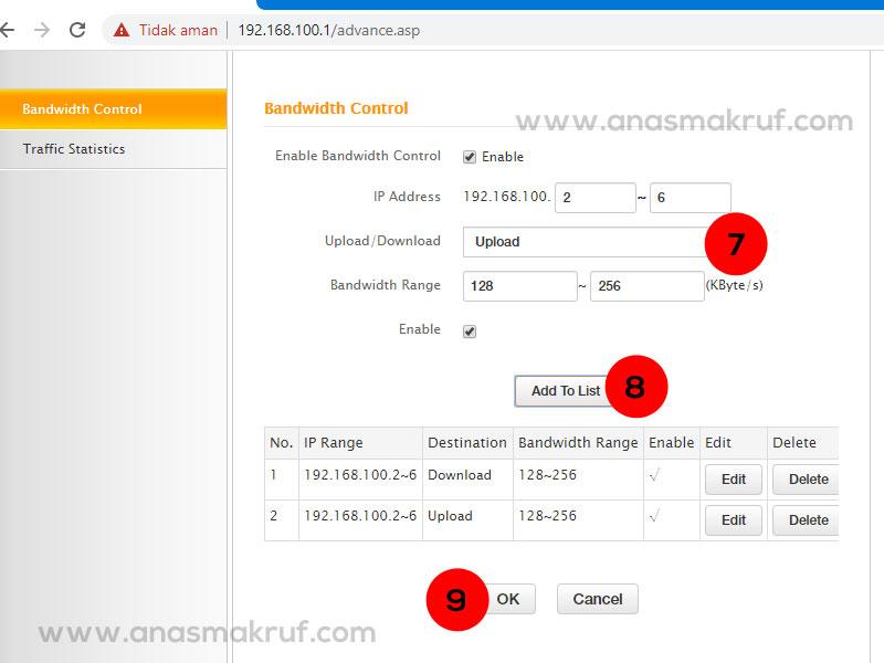 cara-membatasi-kecepatan-wifi-router-tenda-n300-step-3