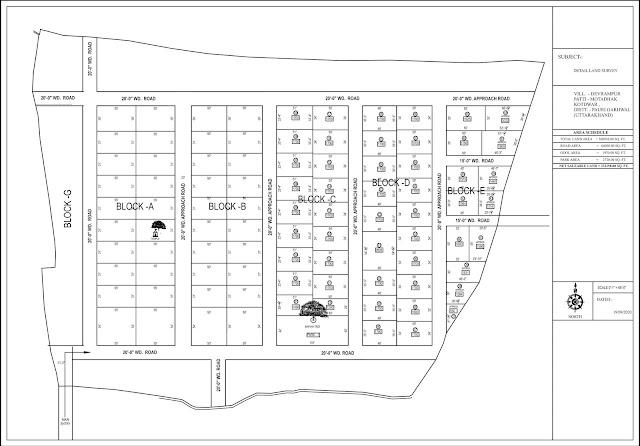 Project 44Bigha Land - Devrampur Residential Land-Plot For Sale Plot Size & Layout