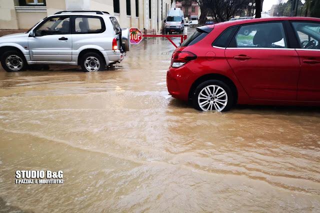 Σφοδρή καταιγίδα στο Ναύπλιο
