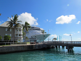 A Cruise Ship docked in Key West Florida