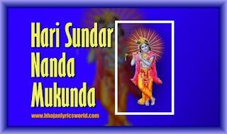 Hari Sundar Nanda Mukunda, Hari Narayana Hari Om Lyrics in English
