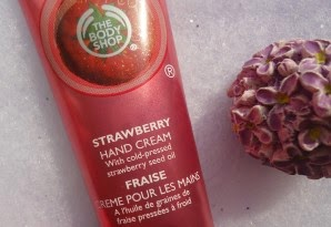 Crème mains à la fraise the body shop