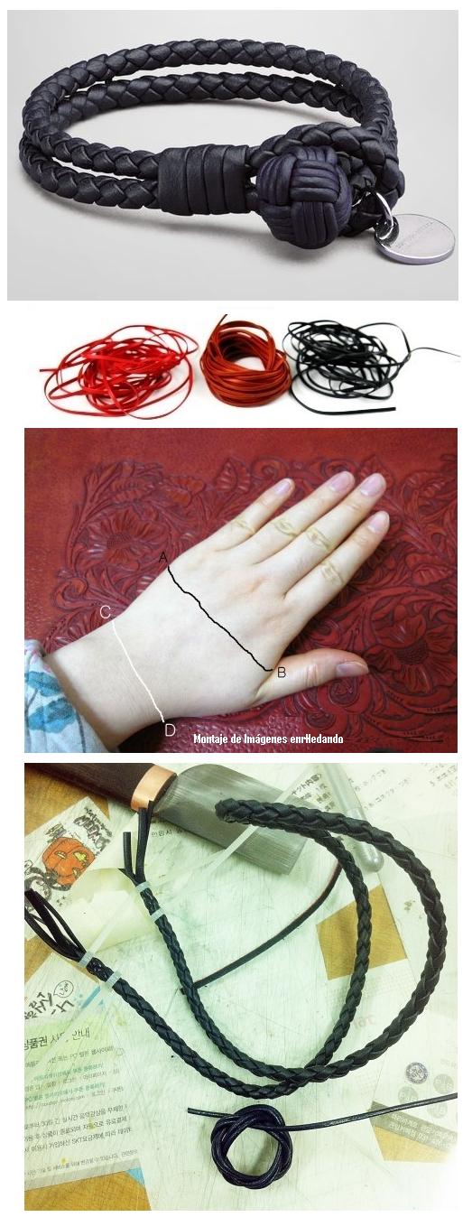 pulsera, brazaletes, Bottega Veneta, bisutería, trenzas, macrame