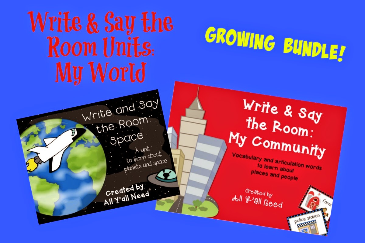 Write & Say the Room: Growing Bundle for My World