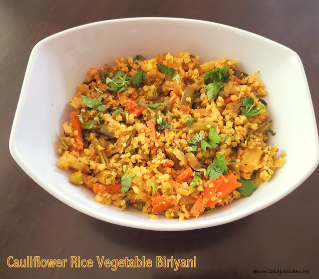 images of Cauliflower Rice Vegetable Biriyani / Cauliflower Rice Biriyani / Biriyani With Cauliflower Rice - Cauliflower Rice Recipes