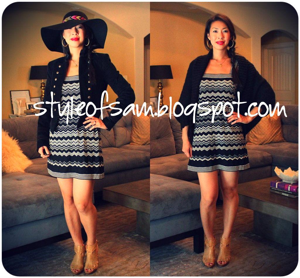 71c0d821c640b Left    dress + Alice + Olivia jacket + Missoni for Target floppy hat