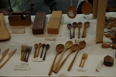 木製カトラリーなど