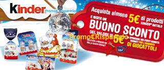 Logo Kinder Gamma Natale ti regala un buono sconto sicuro
