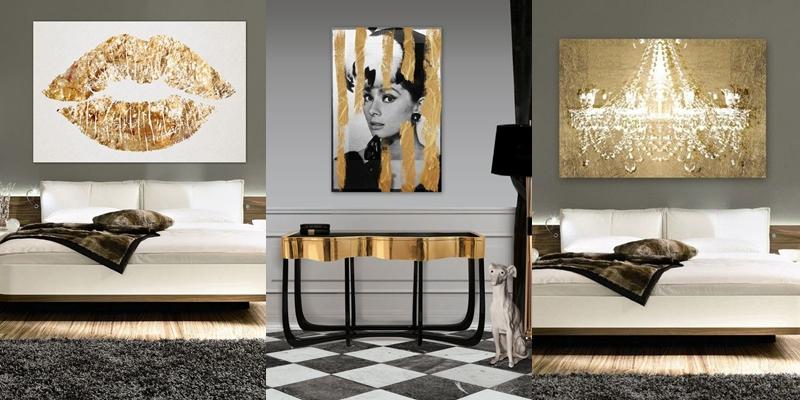 Oliver Gal Audrey Hepburn art.Oliver Gal gold kiss print.