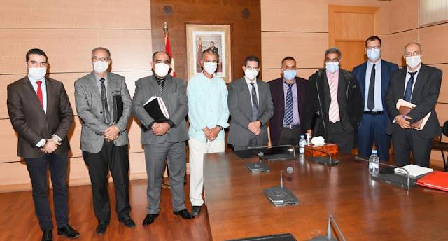 لقاء أمزازي بممثلي الجمعية المهنية لمديرات ومديري التعليم الابتدائي بالمغرب