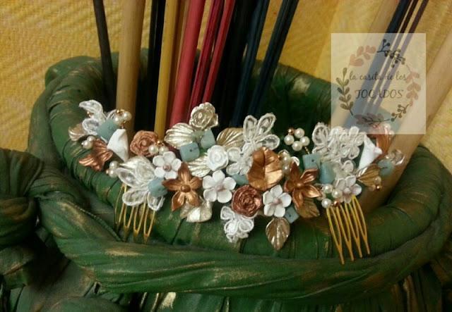 semicorona romántica para novia con variedad de materiales y colores