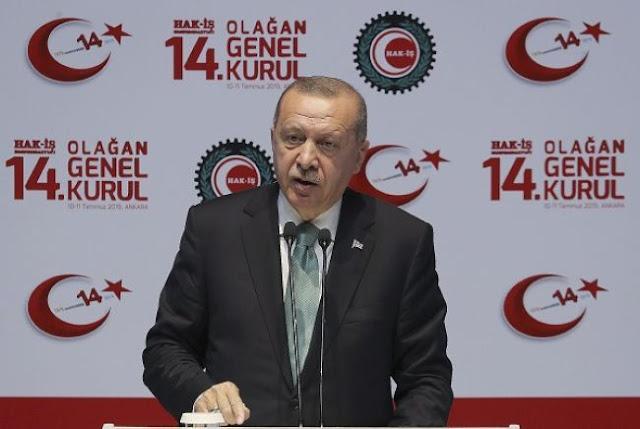 Ερντογάν: Κανείς δεν μπορεί να γονατίσει την Τουρκία