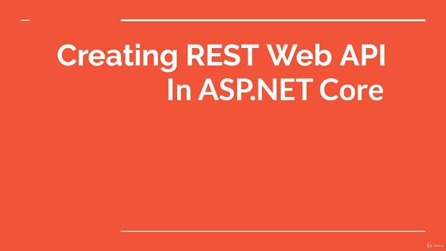 ASP .NET Core, building REST APIs
