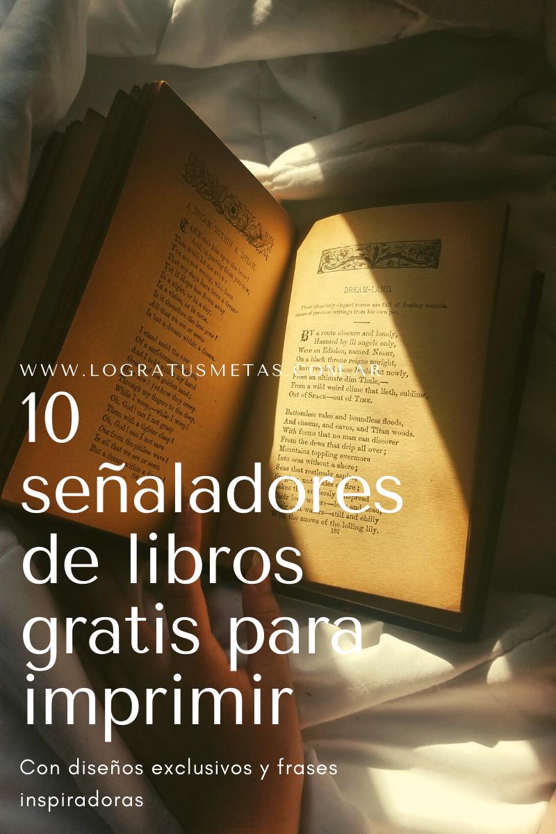 10 señaladores de libros gratis para descargar e imprimir