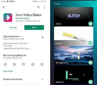 aplikasi membuat intro youtube di android