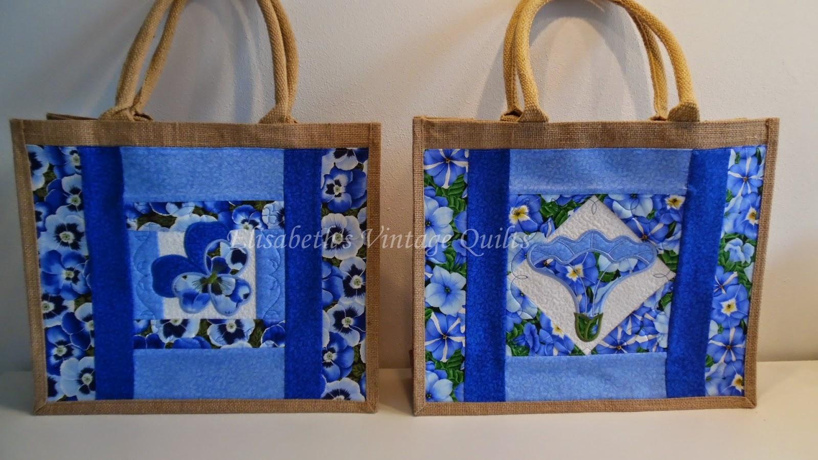 Quilt Tassen : Elisabeth s vintage quilts boodschappentassen