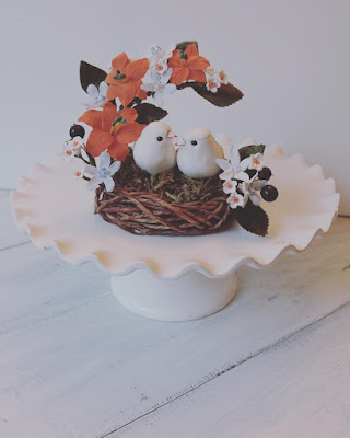 love bird nest topper