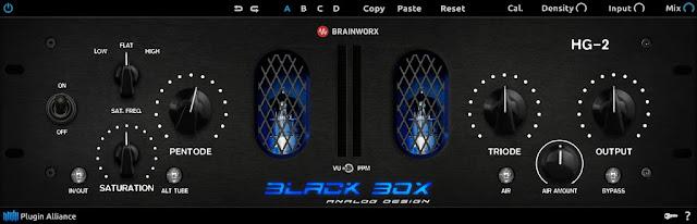Interface do VST Plugin Alliance - Black Box Analog Design HG-2 v1.3