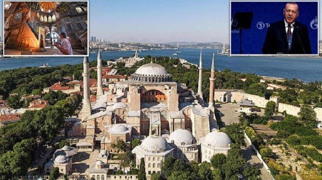 MUSEUM Hagia Sophia Diubah Jadi Masjid oleh Presiden Turki Erdogan, Amerika Serikat dan Yunani Marah