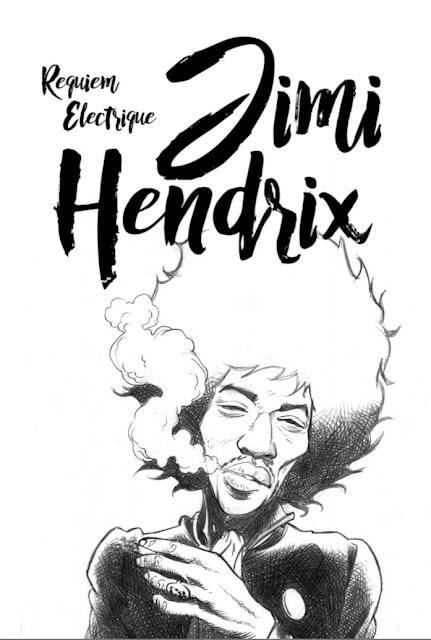 Jimi Hendrix Requiem Electrique aux éditions Graph Zeppelin page de garde