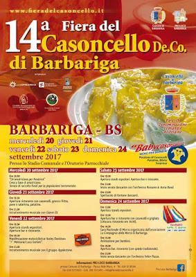 Fiera del Casoncello di Barbariga dal 20 al 24 settembre Barbariga (BS)
