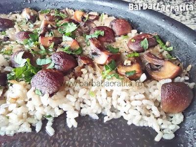 orez cu ciuperci la cuptor (imaginea de la sfarsitul retetei)