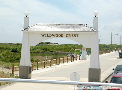 Wildwood Crest Beach Boardwalk Arch in New Jersey