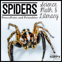 Spiders Unit: Science, Math, and Literacy