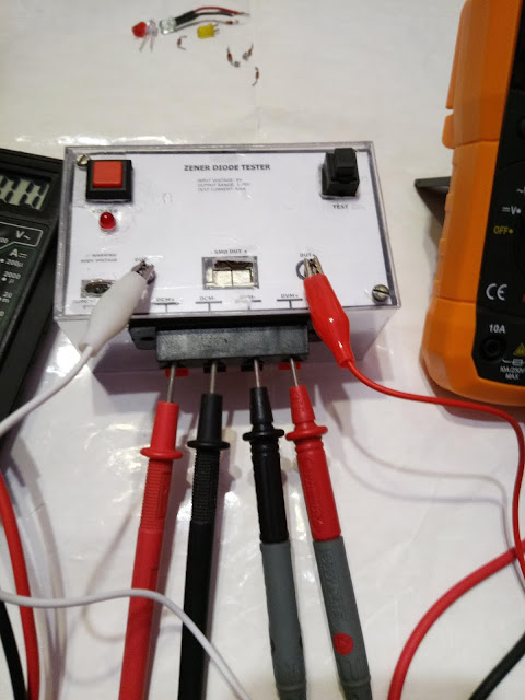 Zener and LED diode tester