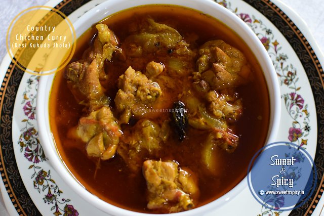 Country Chicken Curry (Desi Kukuda Jhola)