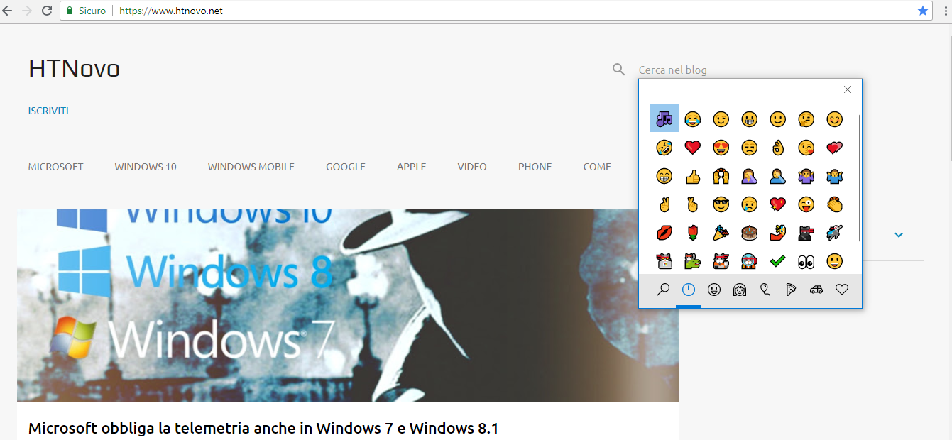 Pannello-Emoji-Chrome-Windows