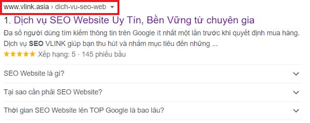 URL tối ưu hoá trải nghiệm người dùng