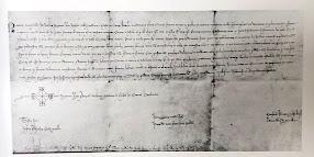 El rei Jaume II ratifica el títol de ciutat a Manresa, any 1315. Arxiu Comarcal del Bages.