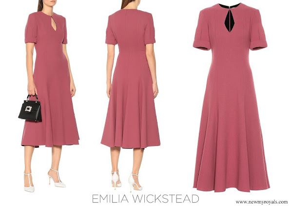 Countess of Wessex wore EMILIA WICKSTEAD Ludovica wool crepe dress