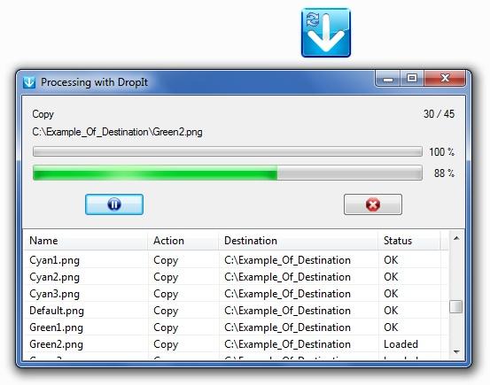 تحميل برنامج ضغط وفك ضغط الملفات مجانا DropIt 8.5