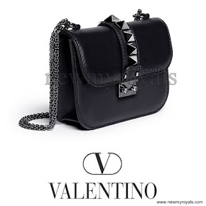Crown Princess carries Valentino Small chain shoulder bag