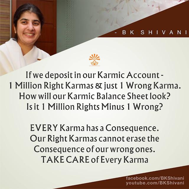 Bk Shivani Sis Karmaic Account