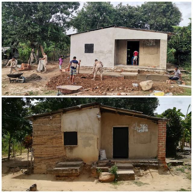 hoyennoticia.com, Ejército mejora viviendas, escuelas y escenarios deportivos en La Guajira